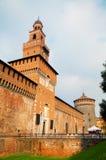 Castello Sforzesco入口在米兰 免版税库存图片