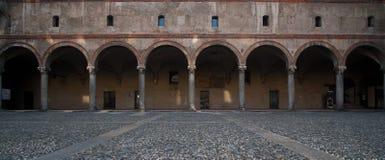 Castello Sforzesco Arches in Milan Royalty Free Stock Photo