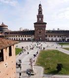 Castello Sforzesco. In Milan,Italy. Ancient castle Royalty Free Stock Image