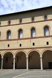 Castello Sforzesco is a castle in Milan stock photography