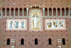 Castello Sforzesco Details Royalty Free Stock Photo