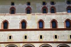 Castello Sforzesco is een kasteel in Milaan Stock Foto's
