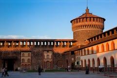 Castello Sforzesco em Milão, Italy fotos de stock