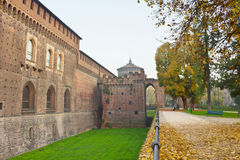 Castello Sforzesco , Italy Stock Photo