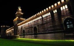 Castello Sforzesco, Milão, Lombardy, Itália imagens de stock royalty free