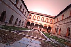 Castello Sforzesco, Milaan Stock Foto's