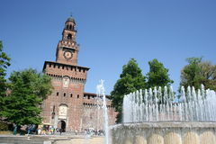 Castello Sforzesco, Milaan Royalty-vrije Stock Afbeeldingen
