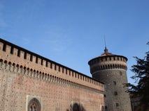 Castello sforzesco - Milan royalty free stock photos