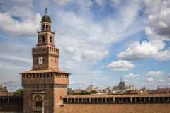 Castello Sforzesco Milan Royaltyfri Fotografi