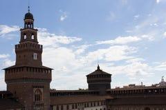 Castello Sforzesco Milan Royaltyfri Bild