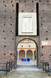 Castello sforzesco in milan Royalty Free Stock Photo