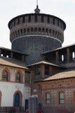 the Castello Sforzesco in Milan royalty free stock photos