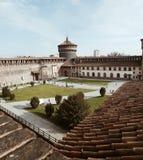 Castello Sforzesco. In Milan,Italy. Ancient castle Royalty Free Stock Photo