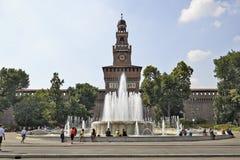Castello Sforzesco in Milan, Italy Stock Images