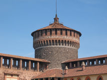 Castello Sforzesco Milan Royalty Free Stock Images