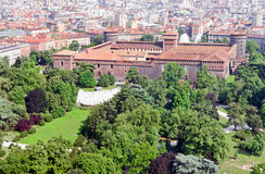 Castello sforzesco in milan Stock Photography