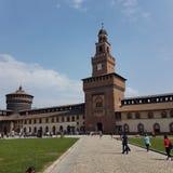Castello sforzesco Milano arkivbilder