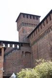 Castello sforzesco Milano Royaltyfria Foton