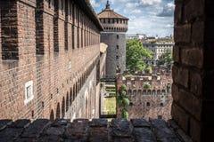 Castello sforzesco Milano fotografering för bildbyråer