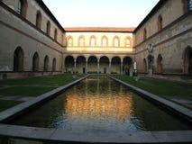 Castello Sforzesco Milano Italia Foto de archivo