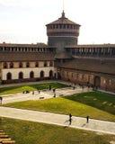 Milan sforzesco castle. Castello sforzesco of Milano Royalty Free Stock Photography