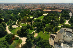 The Castello Sforzesco park in Milan, Italy Royalty Free Stock Photography