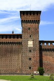 Castello Sforzesco är en slott i Milan Royaltyfria Foton