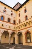 Castello Sforzesco Sforza城堡在米兰,伦巴第,意大利, 13 免版税库存照片