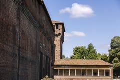 Castello Sforzesco Sforza Castle in Milan, Lombardy, Italy, 13 Royalty Free Stock Images