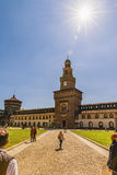 Castello Sforzesco Sforza Castle in Milan, Lombardy, Italy, 13 Royalty Free Stock Image