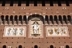 Castello Sforzesco Sforza Castle in Milan, Lombardy, Italy, 13 Stock Photography