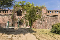 Sforza Castle in Milan, Italy. Castello Sforzesco Sforza Castle in Milano , Italy . Europe. Defensive walls royalty free stock images