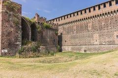 Sforza Castle in Milan, Italy. Castello Sforzesco Sforza Castle in Milano , Italy . Europe. Defensive walls stock image