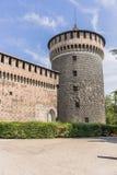 Sforza Castle in Milan, Italy. Castello Sforzesco Sforza Castle in Milano , Italy . Europe. Defensive walls royalty free stock photos