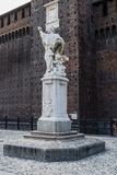 Sforza Castle in Milan, Italy. Castello Sforzesco Sforza Castle in Milano , Italy . Europe. Monument indie defensive Wallis royalty free stock photography