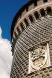 Castello Sforzesco - Sforza-Kasteel in Milan Italy stock afbeeldingen