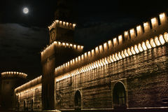 Castello Sforzesco van Milaan Stock Foto