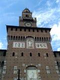 Castello sforzesco w Milan Zdjęcie Royalty Free