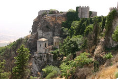 Castello siciliano a Erice Fotografie Stock Libere da Diritti