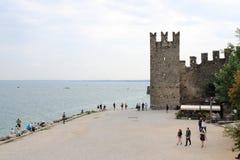 Castello Sirmione di Scaliger Fotografie Stock Libere da Diritti