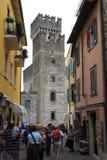 Castello Sirmione di Scaliger Immagine Stock