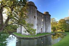 Castello Somerset di Nunney fotografia stock