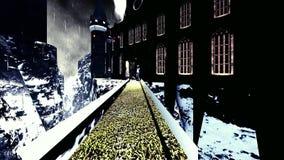 Castello spettrale di Dracula Fotografia Stock