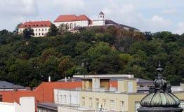 Castello Spilberk a Brno fotografie stock libere da diritti
