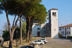 Castello Square in Conegliano, Veneto, Italy Stock Images