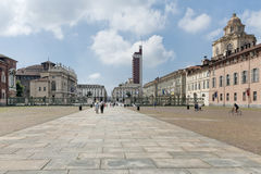 Castello square, Turin, Italy Royalty Free Stock Photos