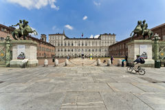 Castello square, Turin, Italy Royalty Free Stock Images