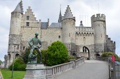 Castello Sten in Antverpen Fotografia Stock Libera da Diritti