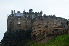 Castello storico di Edimburgo su Castle Rock Fotografia Stock
