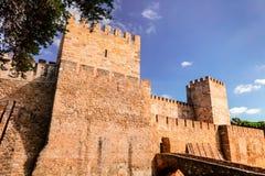 Castello storico di Lisbona Fotografie Stock